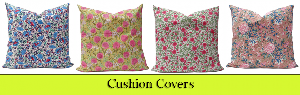 Block Printed Cushions 50x50 cms