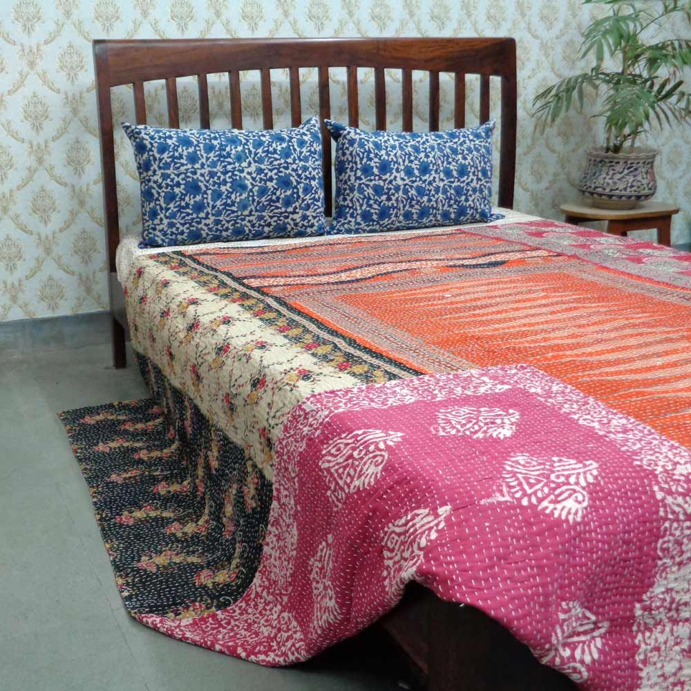 Home Decoration With Kantha Textile