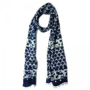 Indigo Stole in Cotton SKU 3432