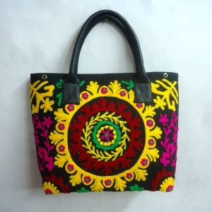 Small Tote Shoulder Bag Suzani Embroidered SKU 10009