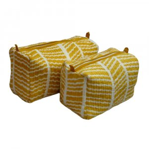 Design HERRINGBONE LIME 1204 Quilted Cosmetic Bag