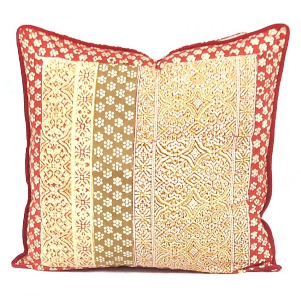 KALAMKARI 7848 Hand Block Printed Cushion Covers 40 x 40 cms | Block Printed Cushion