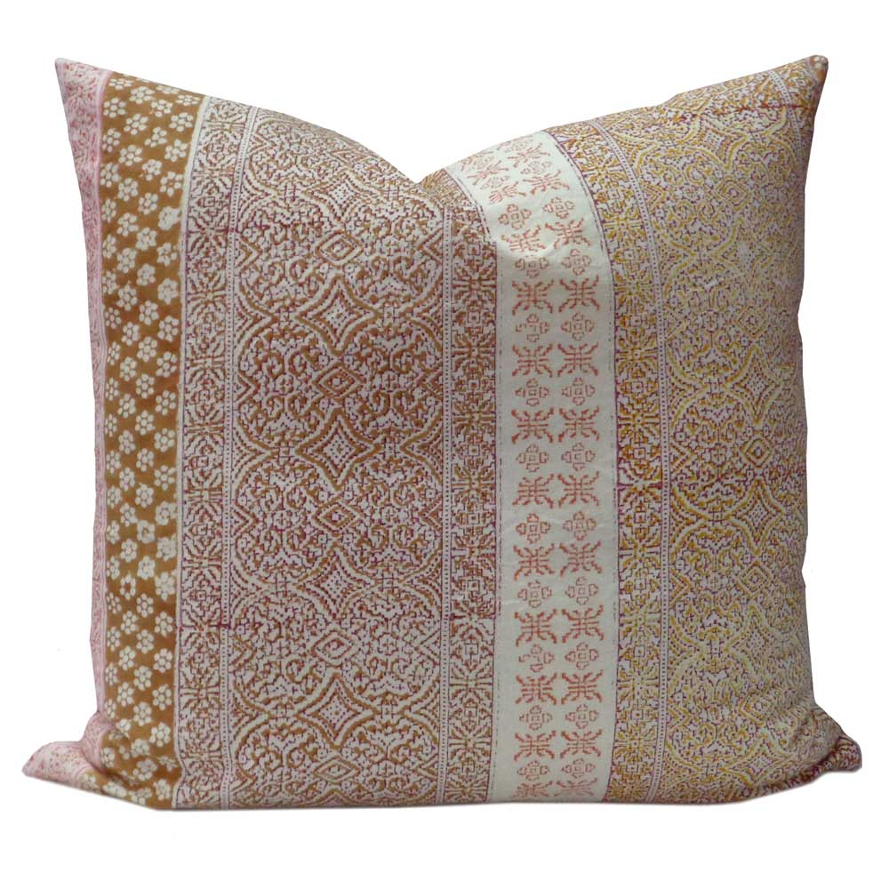 Hand Block Printed Cotton Cushion Cover 50 x 50 | Kalamkari 107174