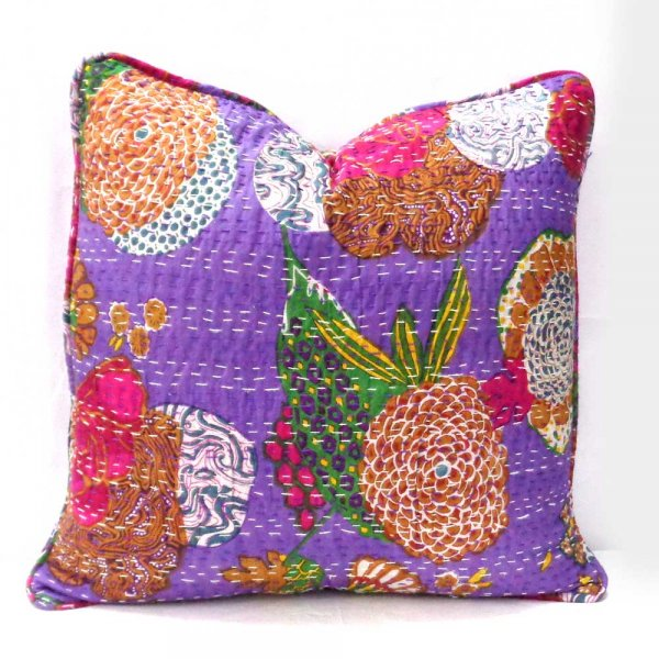 Kantha Cushion Cover | Tropicana Dahlia 08772