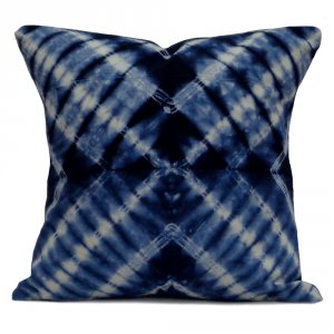 INDIGO SHIBORI 7783 Hand Dyed New Design 20 Sheeting Cushion Covers 40 x 40 cms
