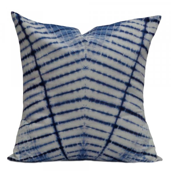 40 x 40 cms INDIGO SHIBORI 9176 Hand Dyed 20 Sheeting Cushion Covers
