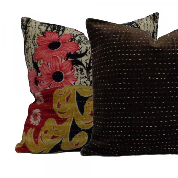 Design 9146 Hand Embriodered Vintage Velvet Cushion
