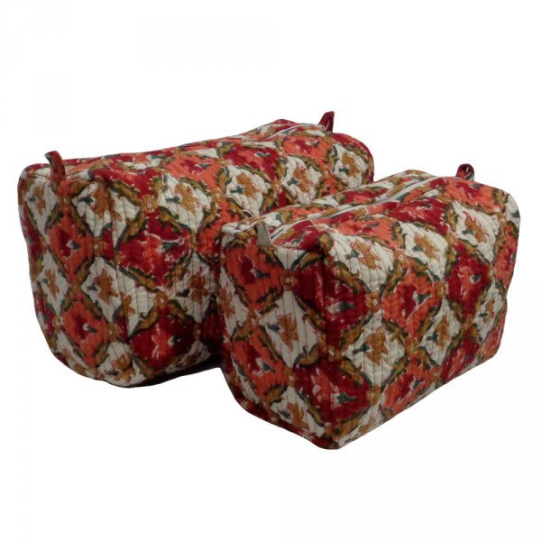 Cotton Quilted Cosmetic Bag | Dholamaru Chokri 4516