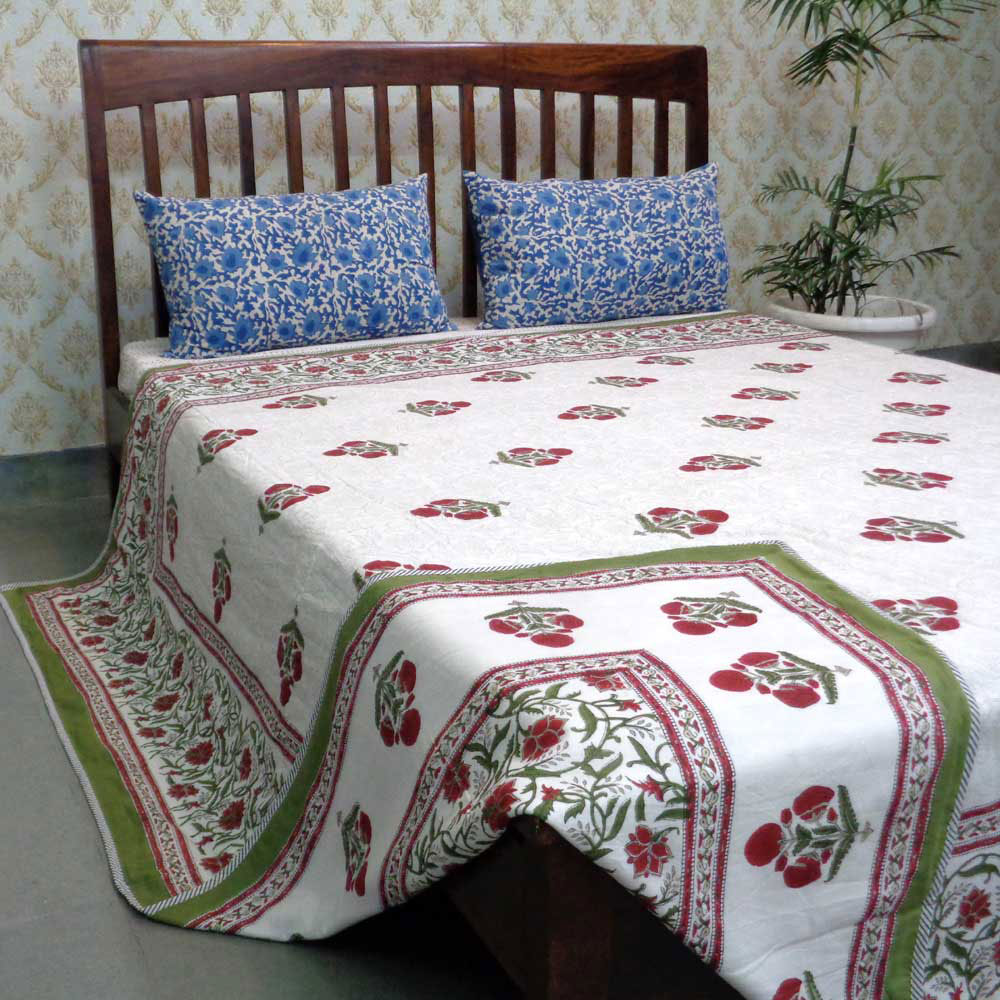 Indian Hand Block Printed Dohar Queen Size | 106676