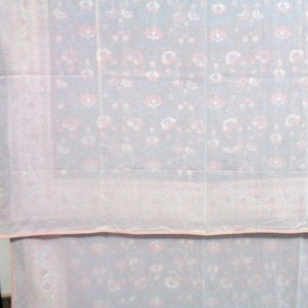 SHEER DOHAR Bedspread Hand Block Printed Cotton Twin Size Dohar | SKB Gud 108877