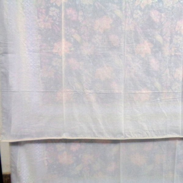 SHEER DOHAR Bedspread Hand Block Printed Cotton Twin Size Dohar | Misty Blue Gud 109048