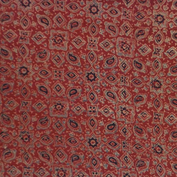 5 Yard AJRAKH FABRIC 106160 Hand Block Printed on 100% Cotton
