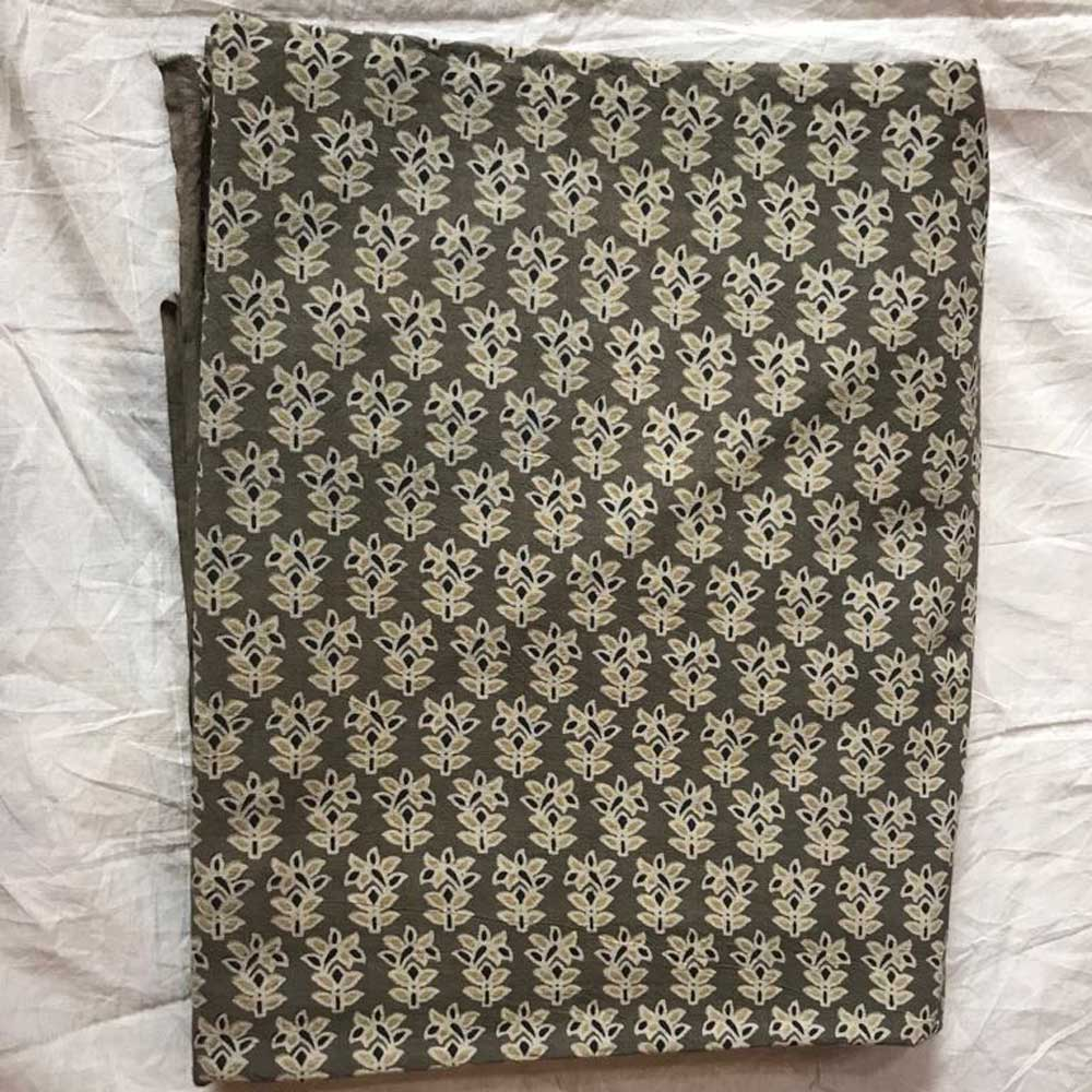 5 Yard AJRAKH FABRIC 106170 Hand Block Printed on 100% Cotton