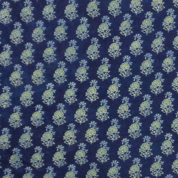 5 Yard AJRAKH FABRIC 106194 Hand Block Printed on 100% Cotton
