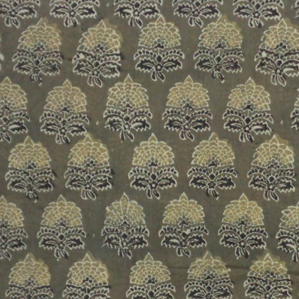 5 Yard AJRAKH FABRIC 106227 Hand Block Printed on 100% Cotton