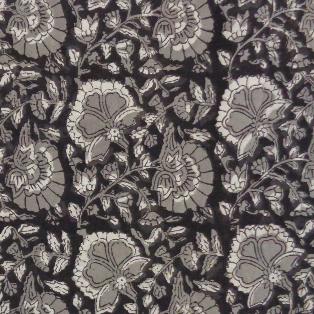 5 Yard  Fabric BAGRU FABRIC 108159 Hand Block Printed on 100% Cotton