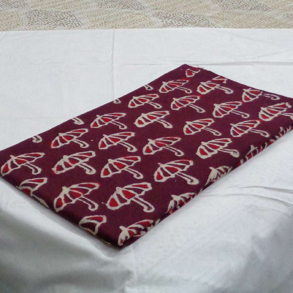 5 Yard  Fabric BAGRU FABRIC 108166 Hand Block Printed on 100% Cotton