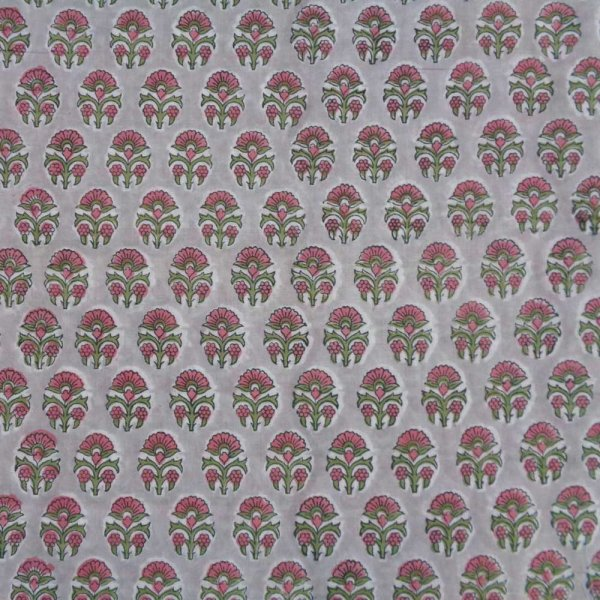 Fabric by yard Indian Fabric 5 Yard Hand Block Printed Cotton Fabric SANGANER | 103518