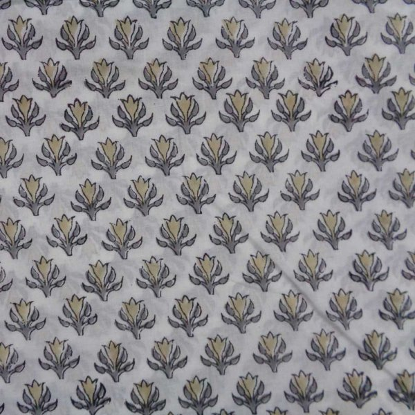 Fabric by yard Indian Fabric 5 Yard Hand Block Printed Cotton Fabric SANGANER | 103522