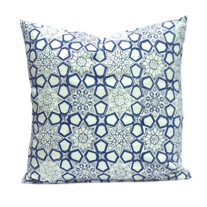 Geo Chokri Cushion Cover 50 x 50 Hand Block Printed SKU 0680