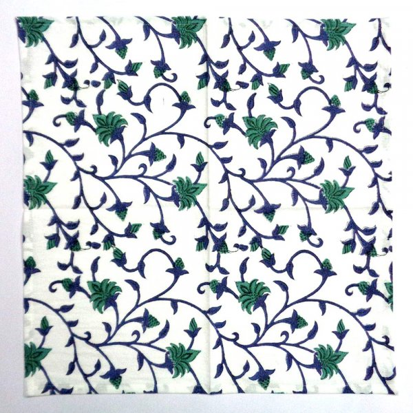 Cotton Napkin Floral Bale Hand Block Printed SKU 4851| Set of 4 Napkins