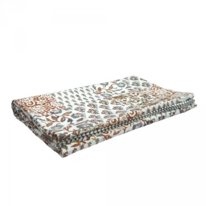 Block Printed Bedcover Patchwork Dohar style in cotton Handmade