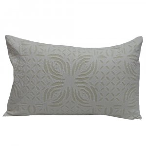 Applique Pillow 45 x 70 in Cotton