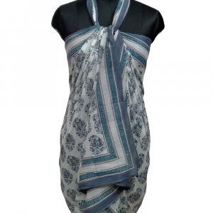 103101 Beach Wrap Sarong Women's Swimwear Wraparound Pareo soft cotton hand block printed
