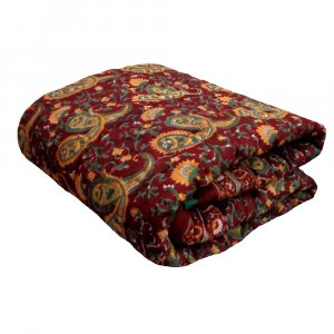 Design PAISLEY MAROON 104431 Cot Size Baby Quilt