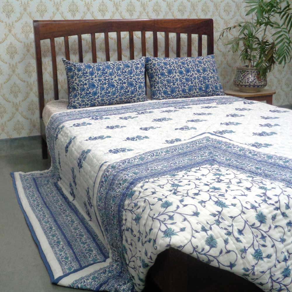 Cotton Quilt King Size | Floral Bale 100411
