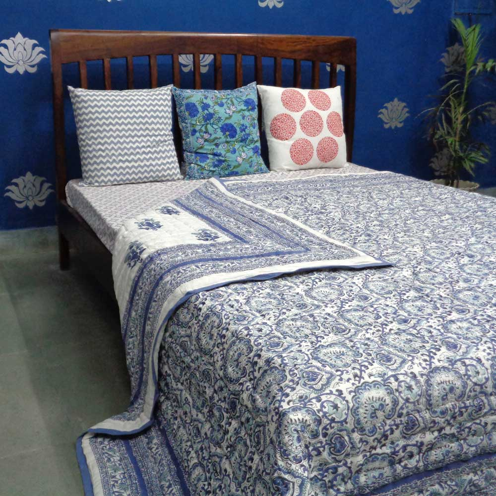 Cotton Quilt King Size | Moroccan Motif 3684