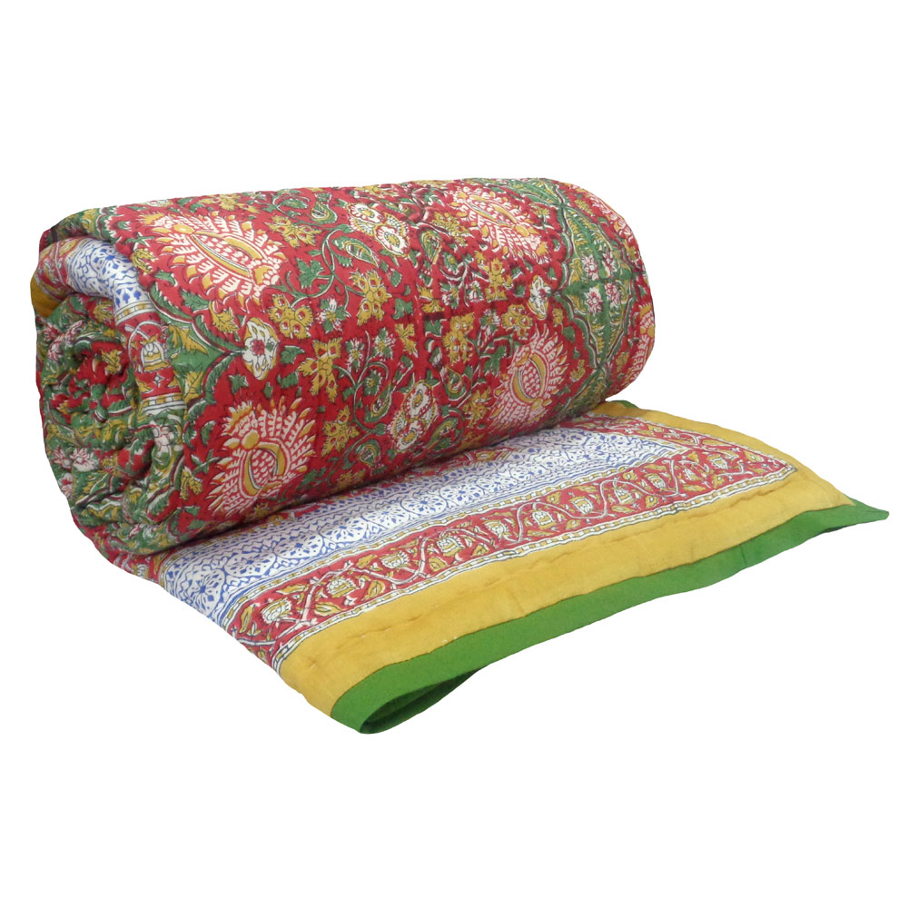Queen Size Soft Cotton Quilt Handmade | Ratlami Red 100580