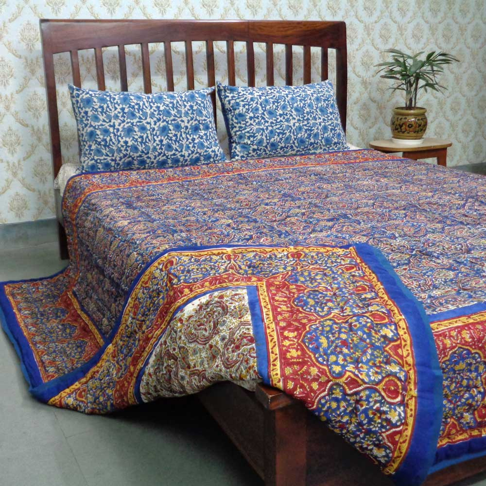 Queen Size Soft Cotton Quilt Handmade | Russian Print 105185