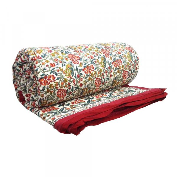 Jungle King Red Soft Cotton Queen Size Quilt