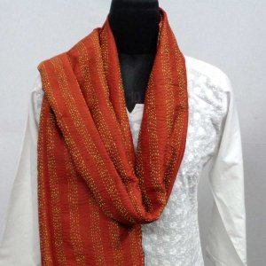 Kantha Silk Stole 7585 hand embroidered (Reversible)