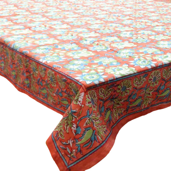 Hand Block Printed Cotton Tablecloth 150x220 | 105402