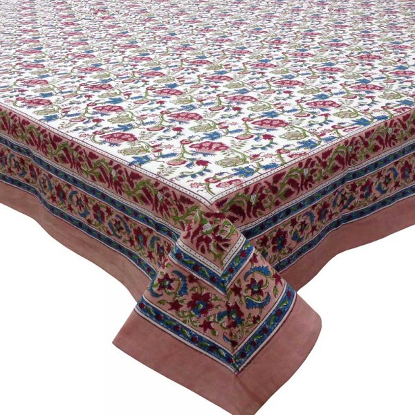 Hand Block Printed Cotton Tablecloth 150x220 cm | Genda Bale 105479