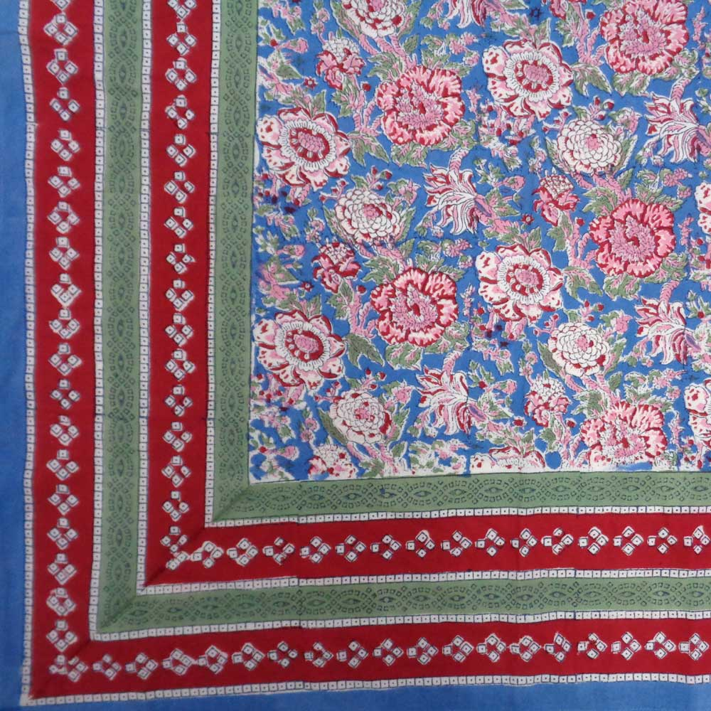Phool Gulabi Gud 109169 Tablecloth In Cotton
