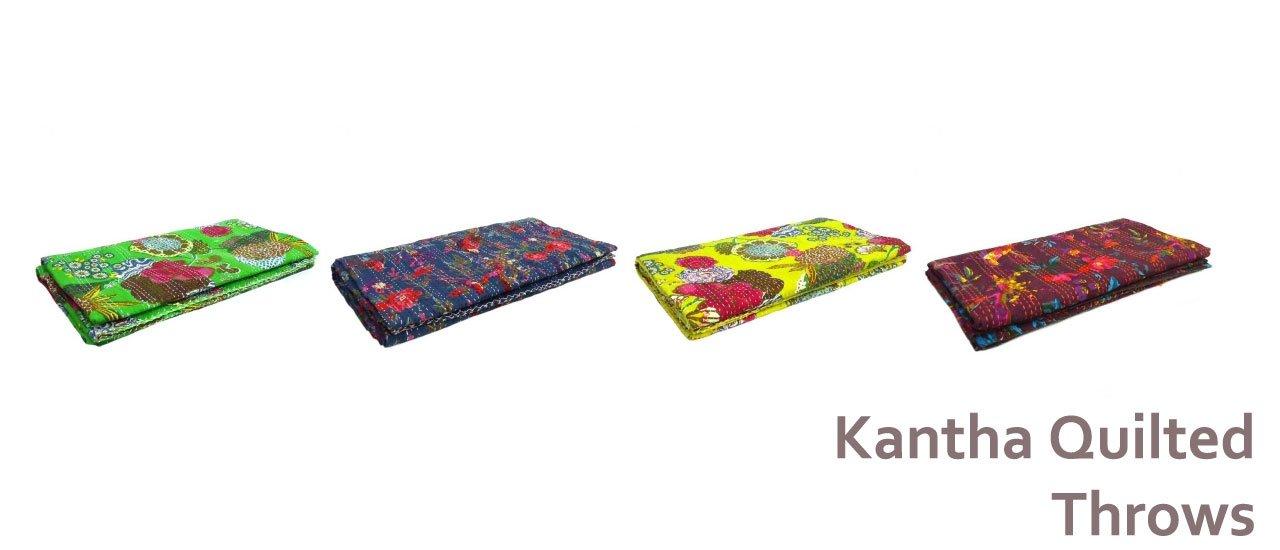 Kantha Throws